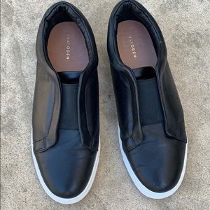 Halogen Black Leather Slip On Sneakers Size 8.5